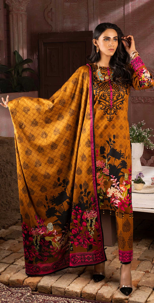 Unstitched 3pc Printed Lawn Shirt with Printed Lawn Dupatta - INAYA (IP-07B)