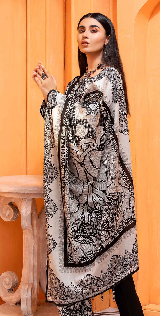 Unstitched 3pc Printed Lawn Shirt with Printed Lawn Dupatta - INAYA2 (IP-27A)