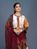 3pc Printed Embroidered Cambric Shirt & Printed Embroidered Chiffon Dupatta - LaRobe (Wk-00570B)