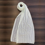 Light-Gray ChikanKari Dupatta (DCK-01)