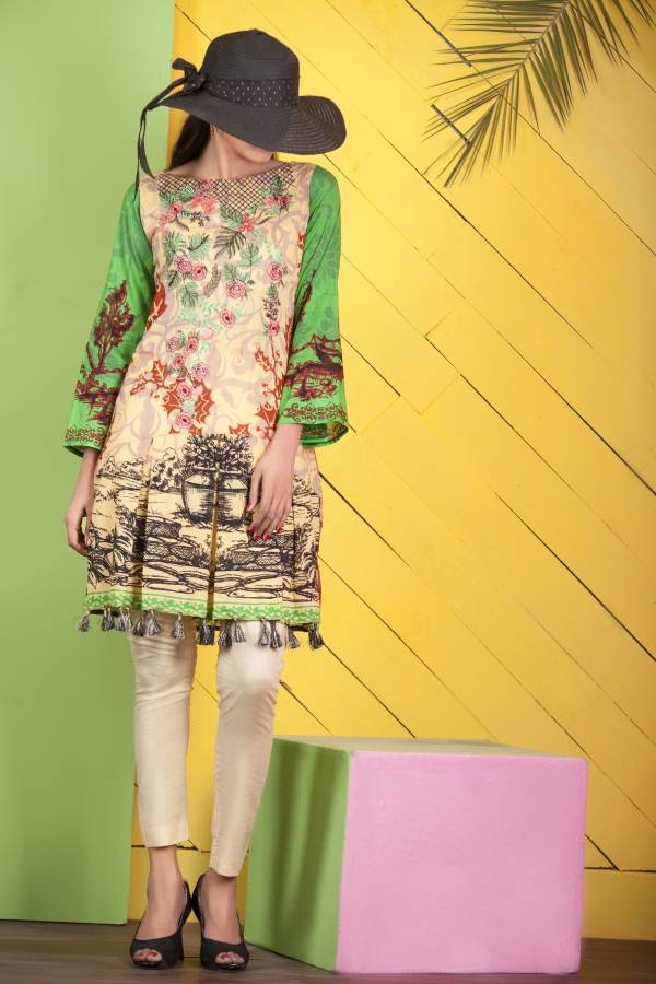 Un-Stitched Embroidered Kurti On Premium Lawn WK-33