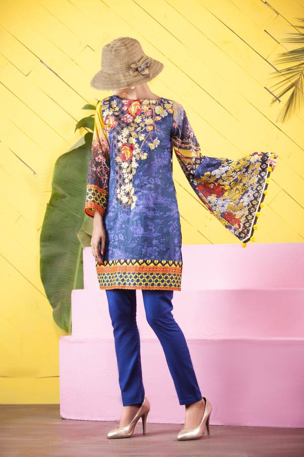 Un-Stitched Embroidered Kurti On Premium Lawn WK-39