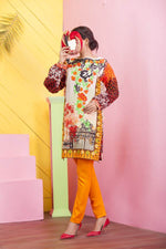 Un-Stitched Embroidered Kurti On Premium Lawn WK-41