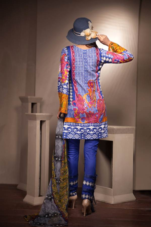 Ladies 3pc Cambric Collection Embroidered Shirt with Net Dupatta RC-69B