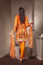 Ladies 3pc Cambric Collection Embroidered Shirt with Net Dupatta RC-71A