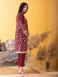Unstitched 3pc Printed Lawn Shirt with Printed Lawn Dupatta & Dyed Cambric Trouser - Inaya (IP-00034A)