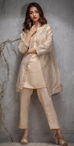 Mysorie Coat with Front , Back and Sleeves Embroidered. Coat Pattern. (PR-15)