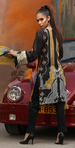 Embroidered Lawn Shirt with Chiffon Dupatta | 3pc (RC-145A)
