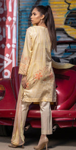 Embroidered Lawn Shirt with Chiffon Dupatta | 3pc (RC-146B)