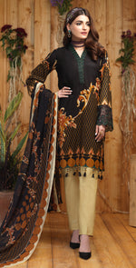 Silkoria Printed Lawn with Embroidered Shirt & Chiffon Dupatta | 3pc (RC-162A)