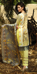 Printed Cambric Shirt with Embroidered Front & Broshia Jacquard Dupatta | 3pc  (RC131B)