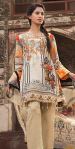 3pc Cambric |  Front Embroidered with Net Dupatta ( Des# RC-91A  )