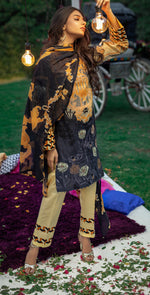 Embroidered Lawn Shirt with Chiffon Dupatta | 3pc (WK-261B)