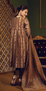 Two Tone Jacquard Festive 3pc With Exclusive Embroidered Front & Textured Trousers (WK-269)