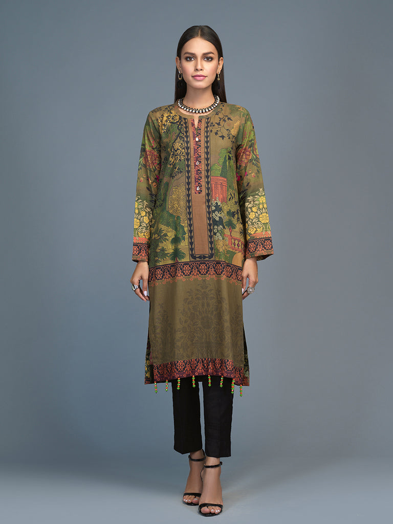 Unstitched 1pc Digital Printed Lawn Kurti (UK-00024)
