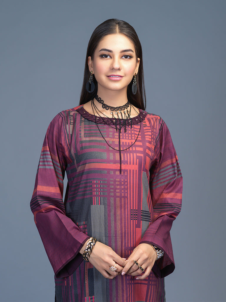 Unstitched 1pc Digital Printed Lawn Kurti (UK-00018)
