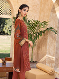 Ruby-Unstitched 3pc - Lawn Embroidered Front with Lawn Printed Back & Sleeves with Digital Printed Monar Dupatta & Dyed Cambric Trouser-Rococo (WK-00667A)