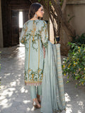 Frosty Mint-Unstitched 3pc Printed Embroidered Lawn Shirt with Chiffon Embroidered Dupatta & Dyed Cambric Trouser- Shades of Summer (WK-00693A)