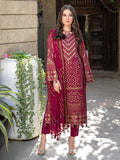 Berry-Unstitched 3pc Printed Embroidered Lawn Shirt with Chiffon Embroidered Dupatta & Dyed Cambric Trouser- Shades of Summer (WK-00692A)