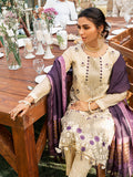 Allure - Unstitched 3pc Fancy Base Embroidered Shirt with Fancy khaddi Dupatta & Dyed Raw Silk Trouser - Vogue (WK-00657)