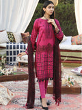 Unstitched 3pc Printed Embroidered Lawn Shirt with Printed Chiffon Dupatta & Dyed Cambric Trouser - Z'ure (WK-00701A)