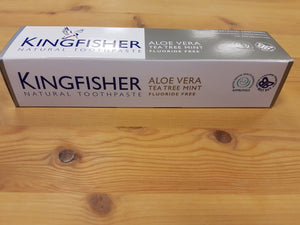 Kingfisher tannkrem u/fluor, tea tree