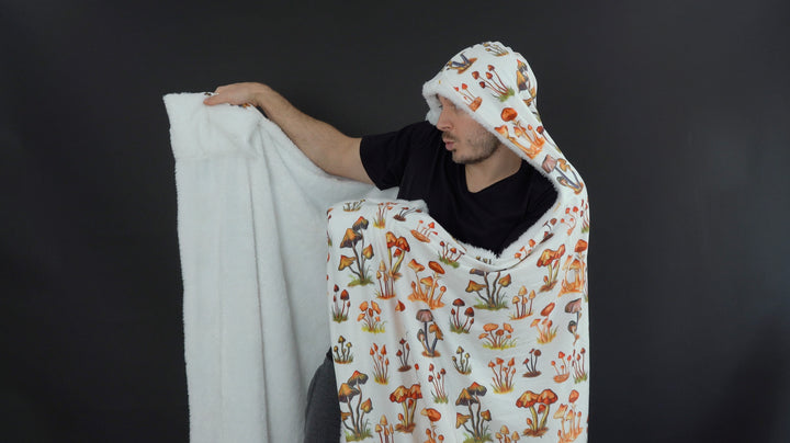 "NEW ""Mushrooms Only"" Hooded Trip Blanket (Ultra-Soft) (PRE-ORDER)"