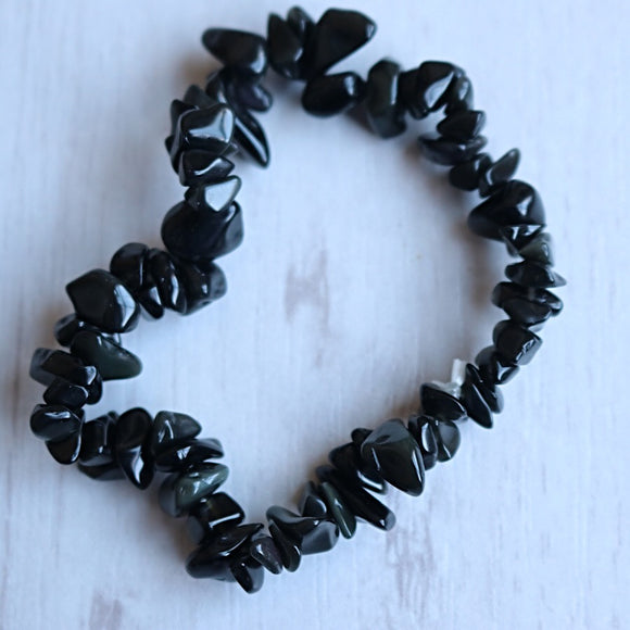 Black Obsidian Activation Chip Bracelet - Little Gems Metaphysical Store