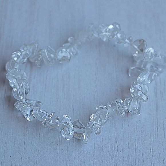 Clear Quartz Activation Chip Bracelet - Little Gems Metaphysical Store