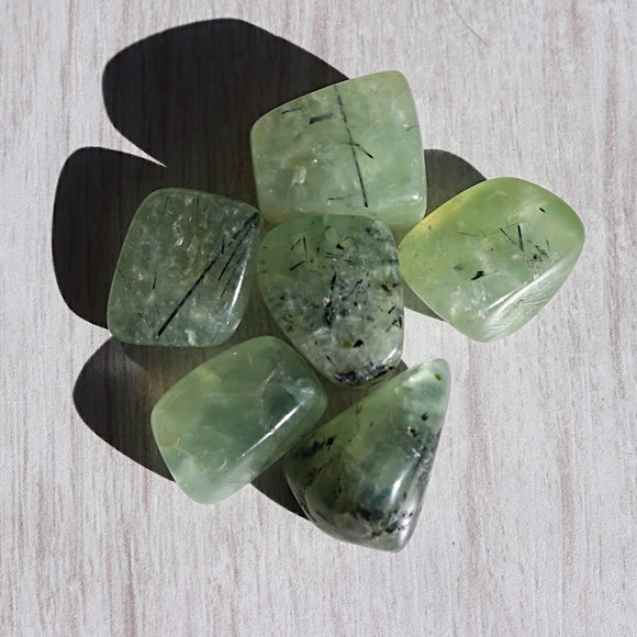 Prehnite Tumbled Stones - Little Gems Metaphysical Store