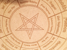 Load image into Gallery viewer, Wiccan wheel of the Year and Candle Base Set - Little Gems Metaphysical Store