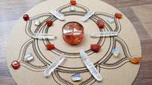 Load image into Gallery viewer, 2nd Chakra Sacral Centre Boost Crystal Grid + Gift - Little Gems Metaphysical Store