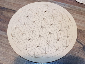 Flower of Life Crystal Grid + baby grid - Little Gems Metaphysical Store