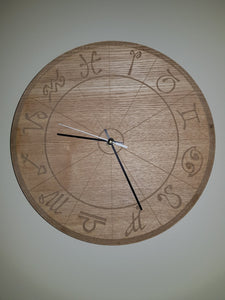 Laser Etched Wall Clock