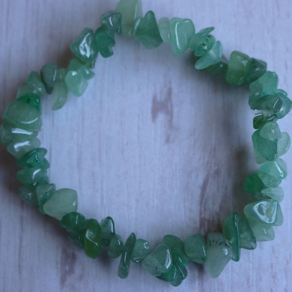 Green Aventurine Activation Chip Bracelet - Little Gems Metaphysical Store