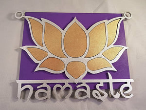 Namaste Wall Plaque - Sacred Space - Little Gems Metaphysical Store