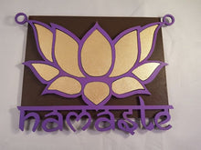 Load image into Gallery viewer, Namaste Wall Plaque - Sacred Space - Little Gems Metaphysical Store