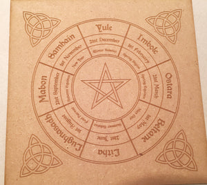 Wiccan wheel of the Year and Candle Base Set - Little Gems Metaphysical Store