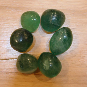 Green Fluorite Tumbled Stones - little-gems-metaphysical-store