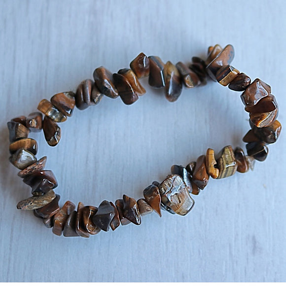 Tigers Eye Activation Chip Bracelet - Little Gems Metaphysical Store