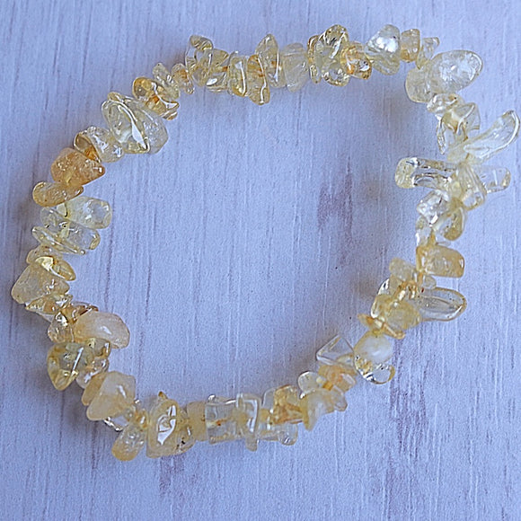 Citrine Activation Chip Bracelet - Little Gems Metaphysical Store