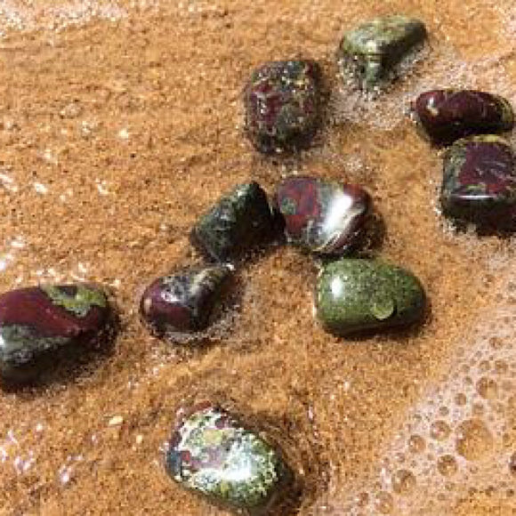 Dragons Blood Jasper Tumbled - Little Gems Metaphysical Store
