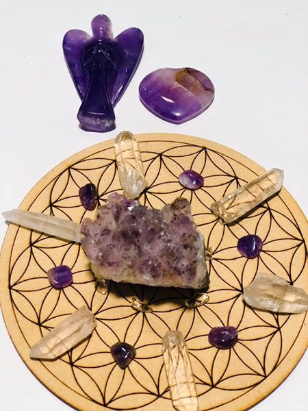 Promoting Spiritual Calm Crystal Grid + Gift - Little Gems Metaphysical Store