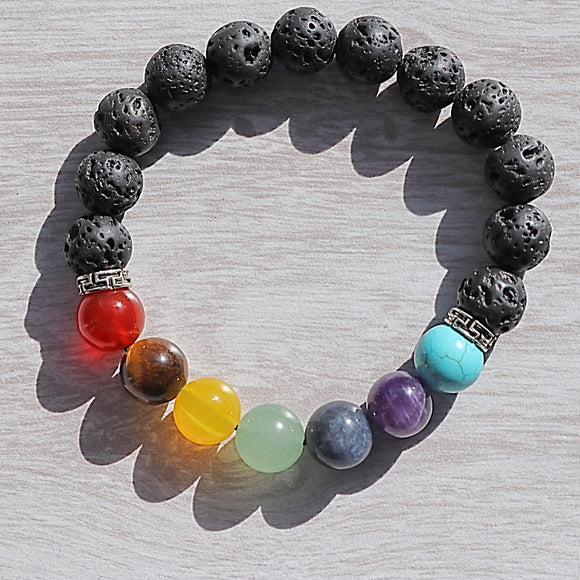 Chakra Lava Bead Bracelet - little-gems-metaphysical-store