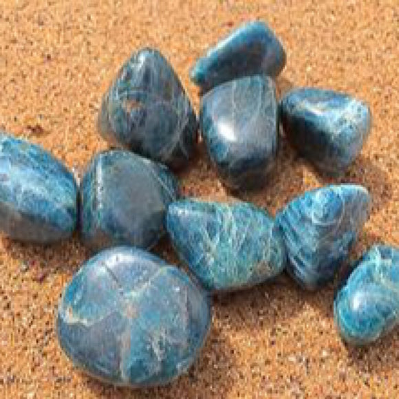 Blue Apatite Tumbled - little-gems-metaphysical-store