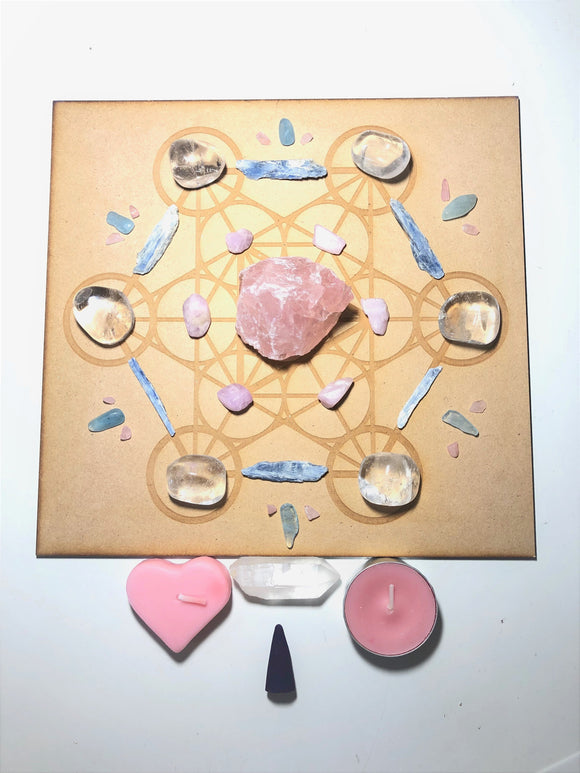 Healing & Confidence Grid - Heart & Throat Chakra - Little Gems Metaphysical Store
