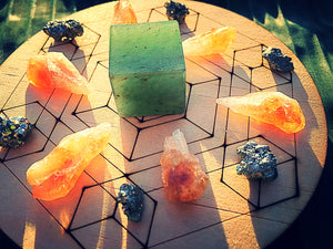 Health, Wealth and Happiness Mini Crystal Grid Set - Little Gems Metaphysical Store