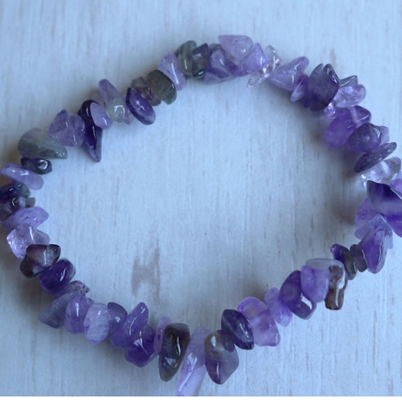 Amethyst Activation Chip Bracelet - little-gems-metaphysical-store