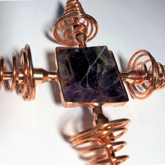 Amethyst Copper Energy Generator - little-gems-metaphysical-store