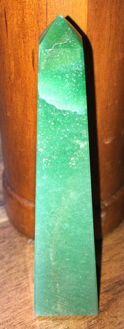 Green Aventurine Obelisk - Little Gems Metaphysical Store